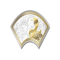 Реверс монеты «Змея в виде веера»