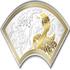 Монета Змея в виде веера