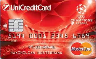 Кредитная карта Официальная кредитная карта UEFA Champions League